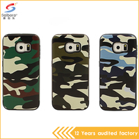 2016 Best Selling Personalized Disruptive Pattern Desert Camo Pc Tpu Phone Case for Samsung S6edge G9250