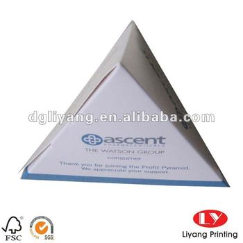 Pyramid shape Paper packaging box