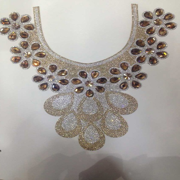 Fancy crystal rhinestones collar for women dress decoratrion