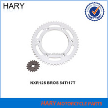 OEM quality motorcycle sprocket kit for NXR 125 BROS