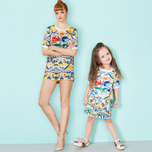 summer Custom Mommy and me dress , momm and me clothing , Mother daughter outfits