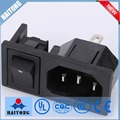 Good quality black 3 pin ac plug socket with cheap price switch socket