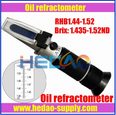 2016 Optical handheld refractometer for oil testing with refractive index 1.435-1.520nd
