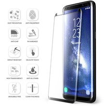 Free Sample!3D Curved 9H Premium Full Coverage asahi tempered glass screen protector guard for Samsung galaxy s8 plus