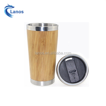 Best selling design stainless steel reusable bamboo coffee cup tea cup