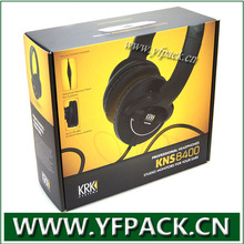 custom printing size packaging corrugate full color paper headphone box