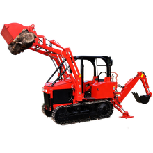 America hot sale garden crawler tractor with loader and backhoe