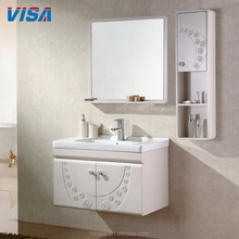 Tenacity high gloss white cabinet floor mounted cheap bathroom new pvc vanity furniture