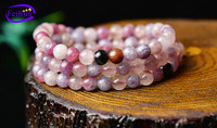 5-5.5 6-6.5mm natural plum blossom shape semi gemstone tourmaline strand