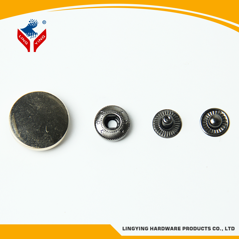 Lingying manufacturer four parts metal snap button for coat