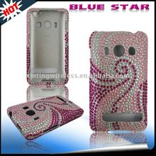Hard black/white zebra Diamond stone bling crystal Case For HTC EVO 4G