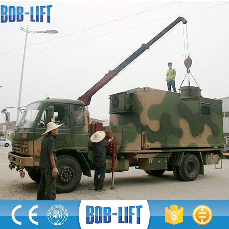 Chinese crane manufacturer 2ton telescopic side boom crane truck mounted