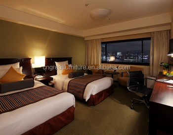 Foshan hotel furniture double-bed room furniture/ Quality 5 star hotel furniture