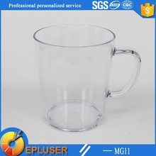 New item plastic transparent custom 12oz travel mug