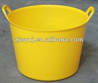 42L economic colorful plastic barrel;rolling garden bucket;storage bucket
