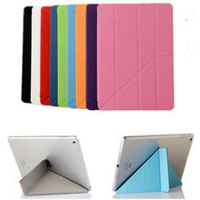 Auto Sleep Wake Magnetic Ultra Slim Smart Tablet Case,Multi-folding Stand Leather Case Cover For iPad Mini 4 Flip Stand Case