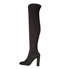 Knee high boots Low MOQ suqare heel genuine leather women long boots