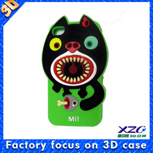 2014 3d silicon animal case for iphone 5