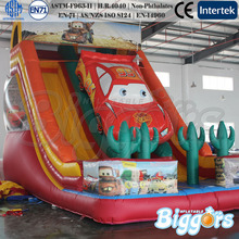 26FT Car Speedway Theme Inflatable Dual Lane Slide Bounce House