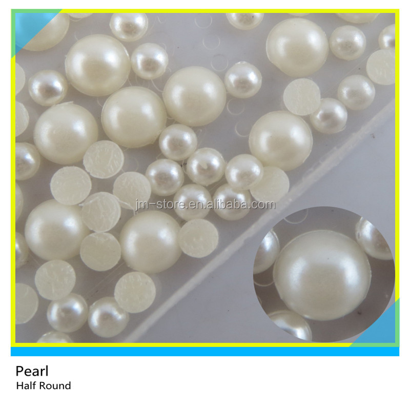 Loose Flat Back Pearl 12mm Half Round Beads For Jewelry Making
