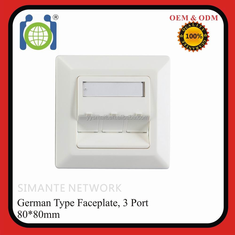 80*80mm Germany RJ45 FTP Wall Outlet