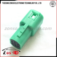 green female tyco automotive connectors with 6 pin