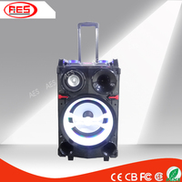 10 inch powered portable trolley professional active stage battery speaker