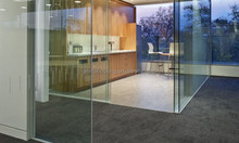 Glass partition wall / living room glass partition / clear office partition glass wall