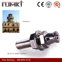 Brand new inox terracotta wall ceramic porcelain marble stone anchor bolt with CE certificate