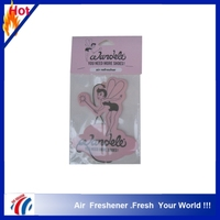 2016 Good quality Hanging custom fruit shape paper car air freshener for promotion