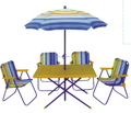 Kids patio set with four chairs using in outdoor/backyard