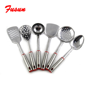 Amazon hot selling high quality cheap price utensils kitchen set stainless steel skimmer