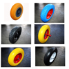 2.50-4 8inch Plastic CENTRE Solid PU Foam Wheel