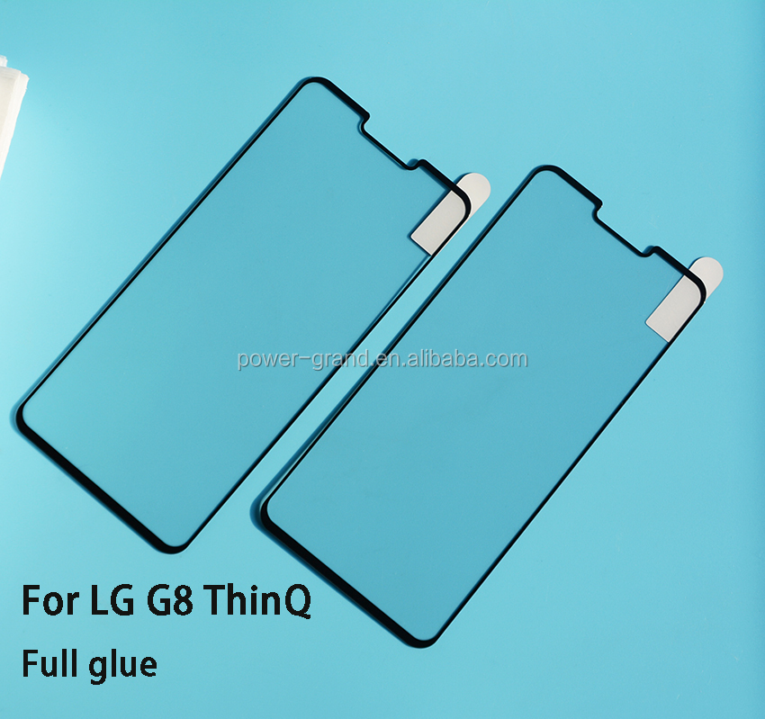 2.5D 9H Silk printing FULL Glue cover Tempered glass screen protector for LG G8 ThinQ
