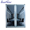 CSA AS2047 AAMA New zealand anti-noise french hinged mirror doors
