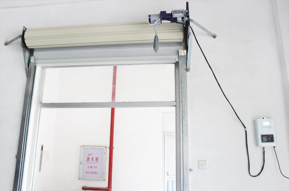 Left or right installation automatic roll up garage door for How to install a roll up garage door motor