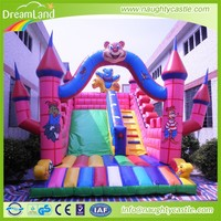 china cheap party use kids inflatable play land combos small inflatable slide fun city for sale