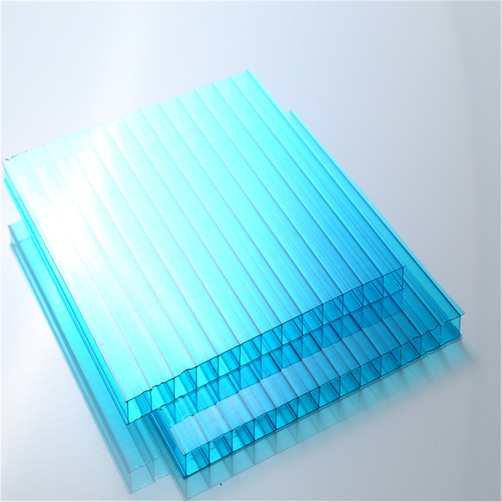 factory supply 100% recycled clear plastic twin wall sheet