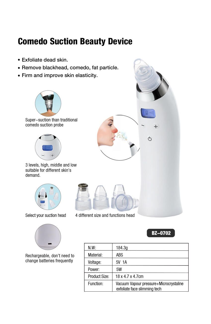 Portable Beauty Equipment Physical Vacuum Suction Pores Cleaner Comedo Blackhead Remover For Nose