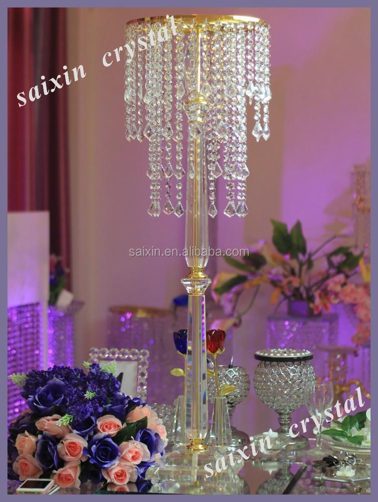 Crystal flower stand tall wedding candelabra centerpiece