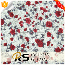 popular autumn women fabric polyester hacci brushed knit fabric floral fabric