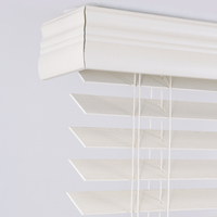 Pull cord control system 50mm faux wood blinds for window