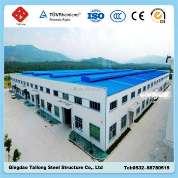 wide span two storey steel building Q345 Q235 bolt