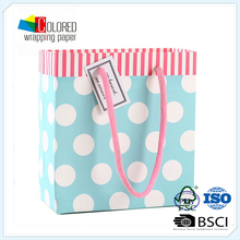 Lighted Color Printed Simple Design Laminated Paper Bags