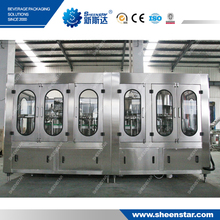 water bottle washing filling capping machine