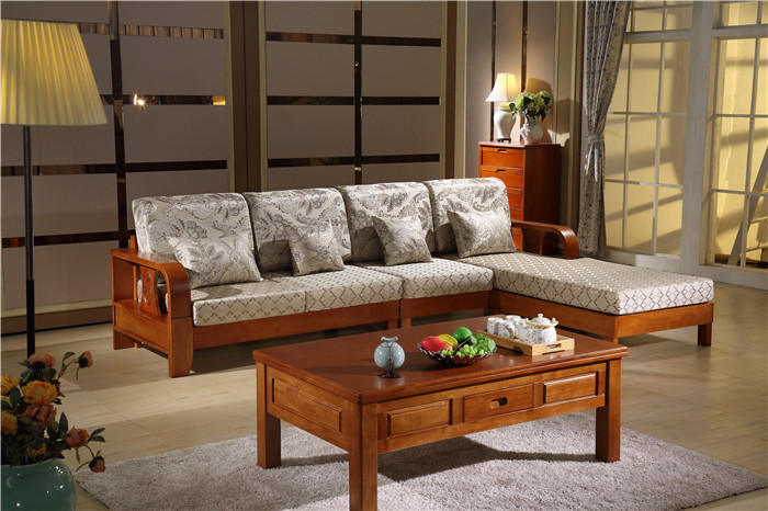 FPHY living room Furniture 8801# Solid wood sofa living room lcd tv stand wooden  furniture