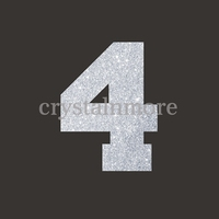Number 4 Glitter Heat Transfer Designs for T Shirts