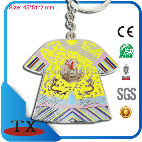 China palace traditional Imperial clothing metal keychain