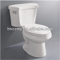 promotion toilet sanitary ware siphonic two piece wc ceramic toilet with side hand lever flushing mechanism
