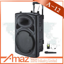 professional outdoor active speaker with usb sd fm remote control wireless